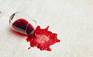 how to remove red wine from a carpet or rug