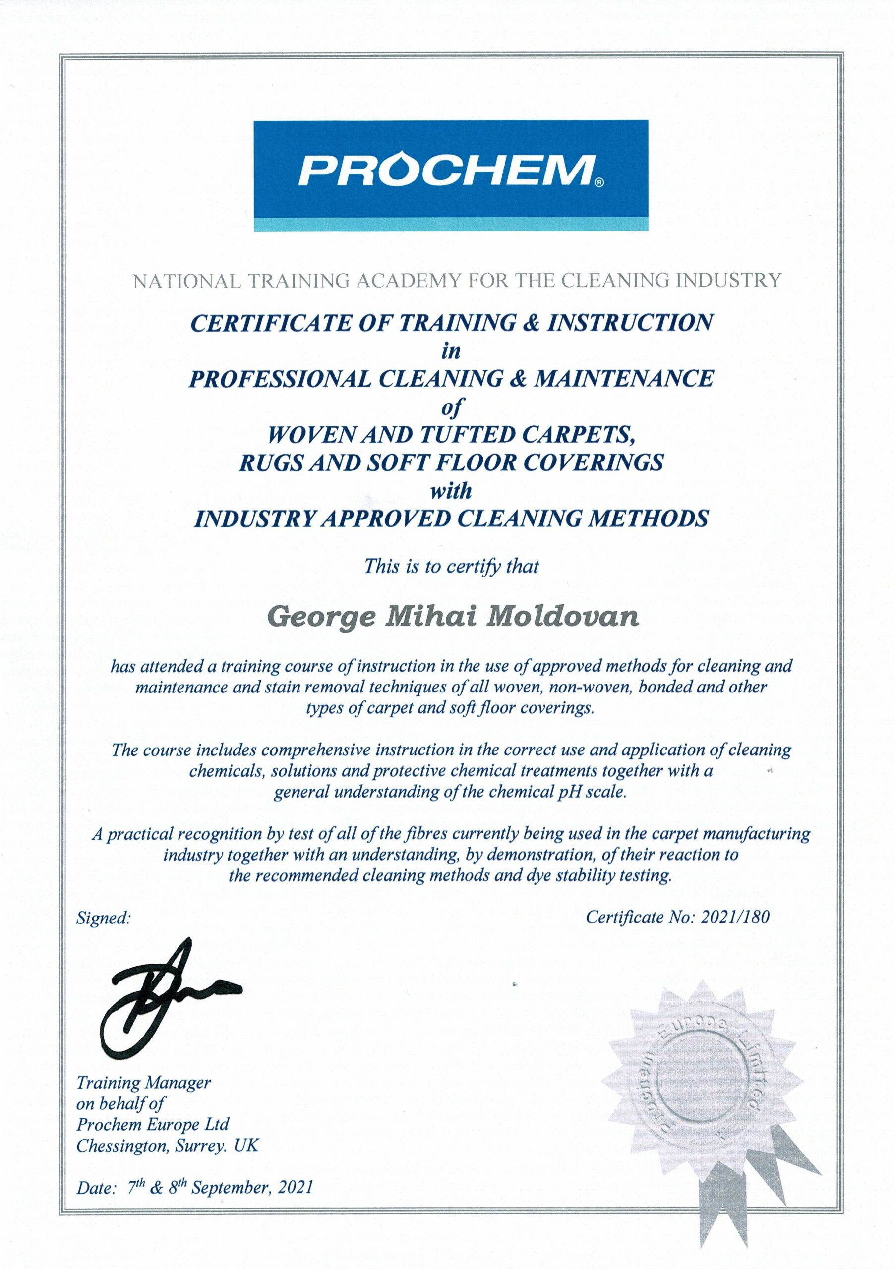 prochem certified