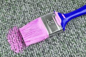 paint spill on carpet